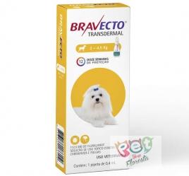 BRAVECTO TRANSDERMAL CAES 2 A 4,5 KG