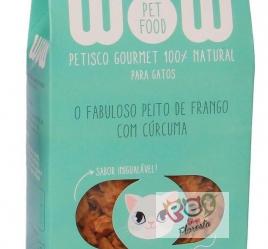 PETISCO WOW PET FOOD PEITO DE FRANGO COM CÚRCUMA GATOS