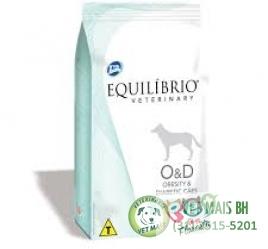 EQUILIBRIO OBESITY E DIABET CÃES 7,5KG