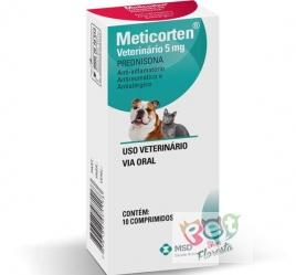 Anti-Inflamatório MSD Meticorten Vet 5mg - 10 Comprimidos