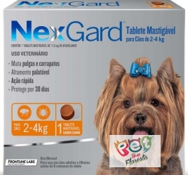 NEXGARD  PARA CÃES DE 2 A 4kg