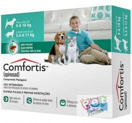 COMFORTIS- ANTI PULGAS PÁRA CÃES 9 A 18Kg E GATOS DE 5,4 a 11kg - 1 COMPRIMIDO