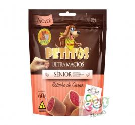 Snack Petitos para Cães Sênior Sabor Carne 60g