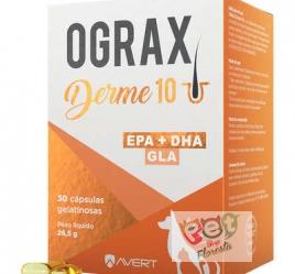 Ograx Derme 10 Suplemento Alimentar Avert  para Cães e Gatos