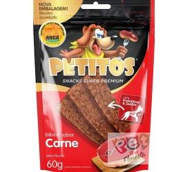 Snack Petitos bifinho sabor Carne - 60g