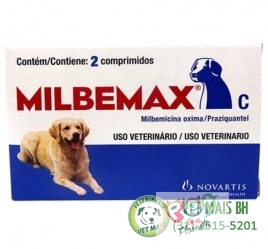 MILBEMAX 5 A 25 KG 2 COMPRIMIDOS