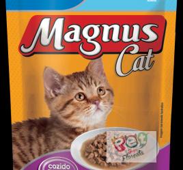Sachê Magnus Cat Premium Gatos filhotes - Sabor carne ao molho