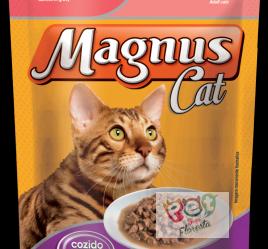 Magnus Sachê Cat Premium Gatos Adultos Sabor Salmão ao Molho