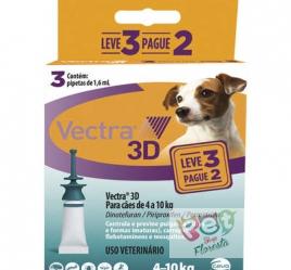 Antipulgas e Carrapatos Ceva Vectra 3D - para Cães de 4 a 10 Kg