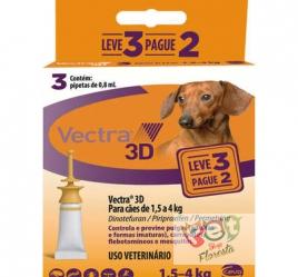 Antipulgas e Carrapatos Ceva Vectra 3D - para Cães de 1,5 a 4 Kg