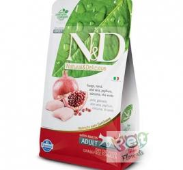 RAÇÃO FARMINA N & D NATURAL PARA GATOS ADULTOS FRANGO 1,5 Kg