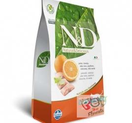 RAÇÃO FARMINA N & D NATURAL PARA GATOS ADULTOS PEIXE 1,5 Kg