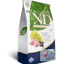 RAÇÃO FARMINA N & D NATURAL PARA GATOS ADULTOS CORDEIRO 1,5 Kg